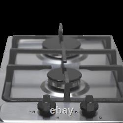 SIA SSG302SS 30cm Domino Gas Hob In Stainless Steel LPG Kit & Cast Iron Stands