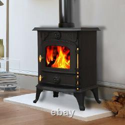 Saxilby 6.5KW Cast Iron Wood Log Burner MultiFuel WoodBurning Stove WoodBurner