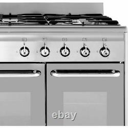 Smeg CG92PX9 90cm 5 Burners A/A Dual Fuel Range Cooker Stainless Steel New