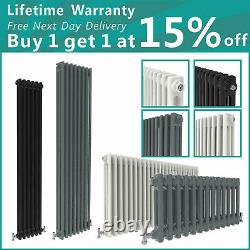 Traditional 2 3 Column Radiator Vertical Horizontal Rads Cast Iron Style White