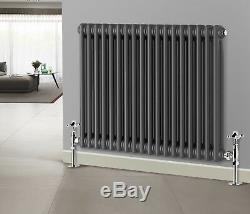 Traditional Column Radiator Bathroom Horizontal Cast Iron Style Rads Anthracite