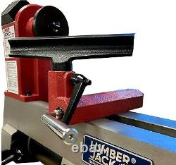 Variable Speed Wood Turning Lathe Cast Iron LCD Display Professional Bench Top