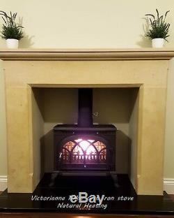 Victorianna 10kw cast iron multifuel wood burner stove multi fuel woodburning