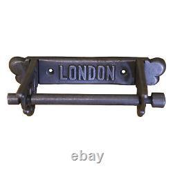 Vintage Toilet Roll Holder Scroll Bracket Sides London Cast Iron