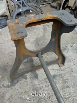 Vintage industrial cast iron Table legs machinist base stand for Dining table