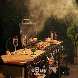 VonHaus Modular Gas Outdoor Kitchen BBQ Grill, Drinks Trolley & Food Prep