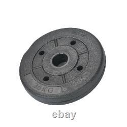 Weight Plates Set Free Dumbbell Vinyl 1 inch Standard 5kg/10kg/15kg Gym Barbell