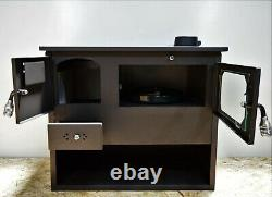 Wood Burning Cooking Stove 7,5kw Log Burner Oven Solid Fuel Cooker with Niche