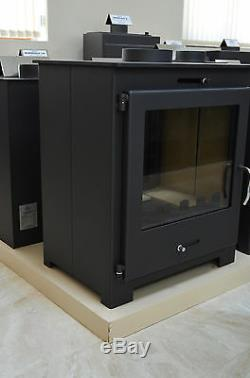 Wood Burning Double Sided Stove Top Flue 2 Glasses Low Emissions fireplace 11 kw