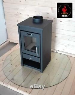 Wood Burning/Multi Fuel Stove 7-11 kW Fireplace Log Burner Top Flue Compact size