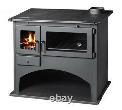 Wood Burning Range Stove Oven Cooker with Back Boiler Multi Fuel, Milan B