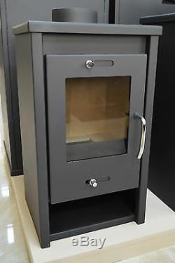 Wood Burning Stove 5 kW Solid Fuel Fireplace Log Burner Small Size BImSchV2