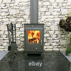 Wood Burning Stove Fireplace Burner Log Solid Fuel Top Flue 5 kw Bora Lux