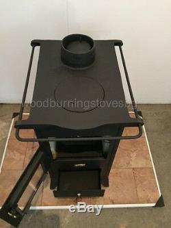 Wood Burning Stove Fireplace Cast Iron Top Multi Fuel Retro Prity Mini 5 kw