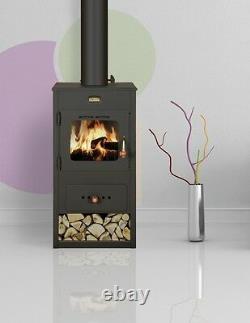 Wood Burning Stove Fireplace Multi Fuel Prity Optima 8kw
