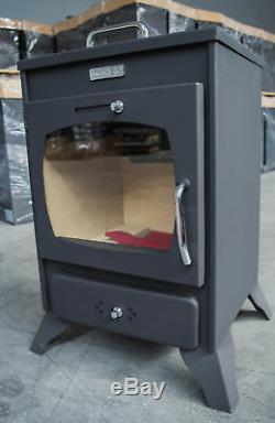 Wood Burning Stove Log Burner Solid Fuel Small Oven KUPRO VALENCIANA 8 KW