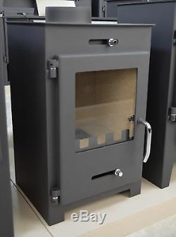 Wood Burning Stove Top Flue 5 kW Top Flue Fireplace Wood/Coal Solid Fuel Burner