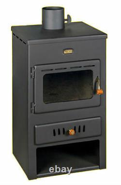 Wood Burning Stove With Back Boiler Fireplace Multi Fuel Prity K1W8 8+4kw