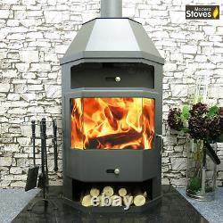 Wood Burning Stove with Back Boiler Multi-fuel Titan BO 18kw
