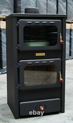 Wood Burning Stove with Oven 8,4 kw Cooking Log Burner Cooker with Cast Iron Top