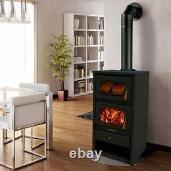 Wood Burning Stove with Oven Log Burner Cooking Fireplace Solid Fuel METALIK13kw