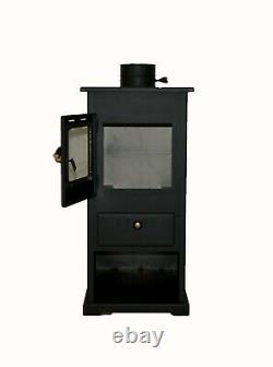 Wood burning stove Solid Fuel Fireplace 5kw heating power PROMETEY Mini B
