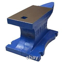 X-Large Heavy 100lb (45kg) Blacksmith Single Horn Cast Iron Anvil Powder Coated