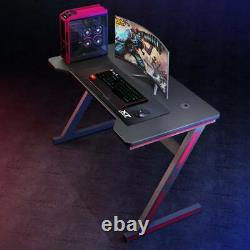 Z Shape Gaming Computer Desk PC Racing Table Workstation Study Home 120cm